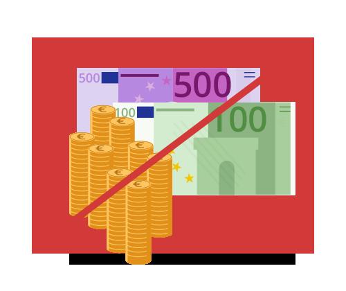 Zahlungsart: Bar Zahlung nicht möglich! Icon