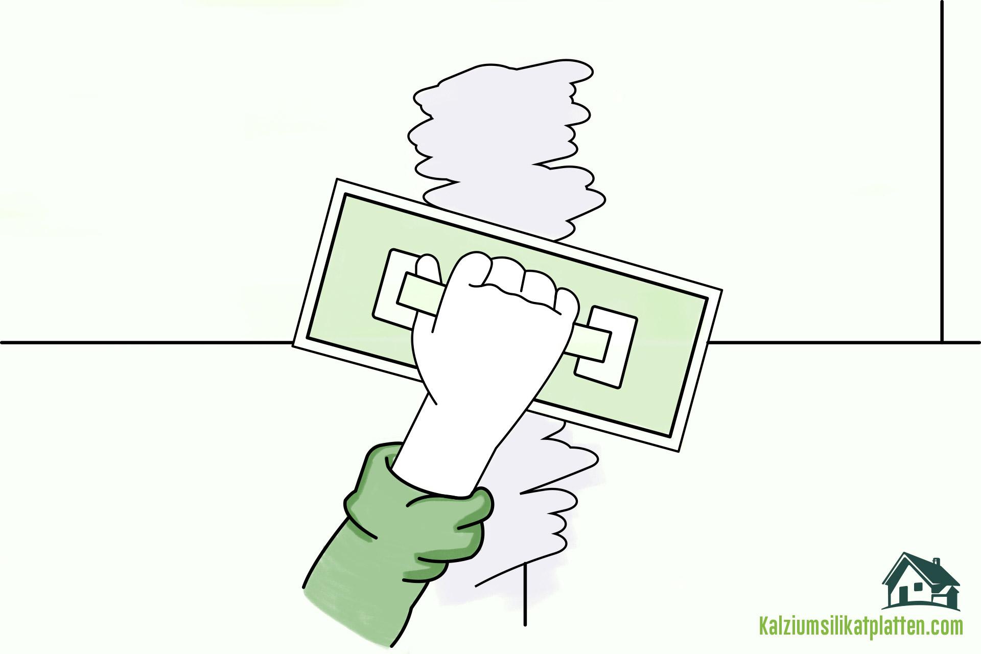 Anleitung zur Verarbeitung von Kalziumsilikatplatten: Fugen verspachteln