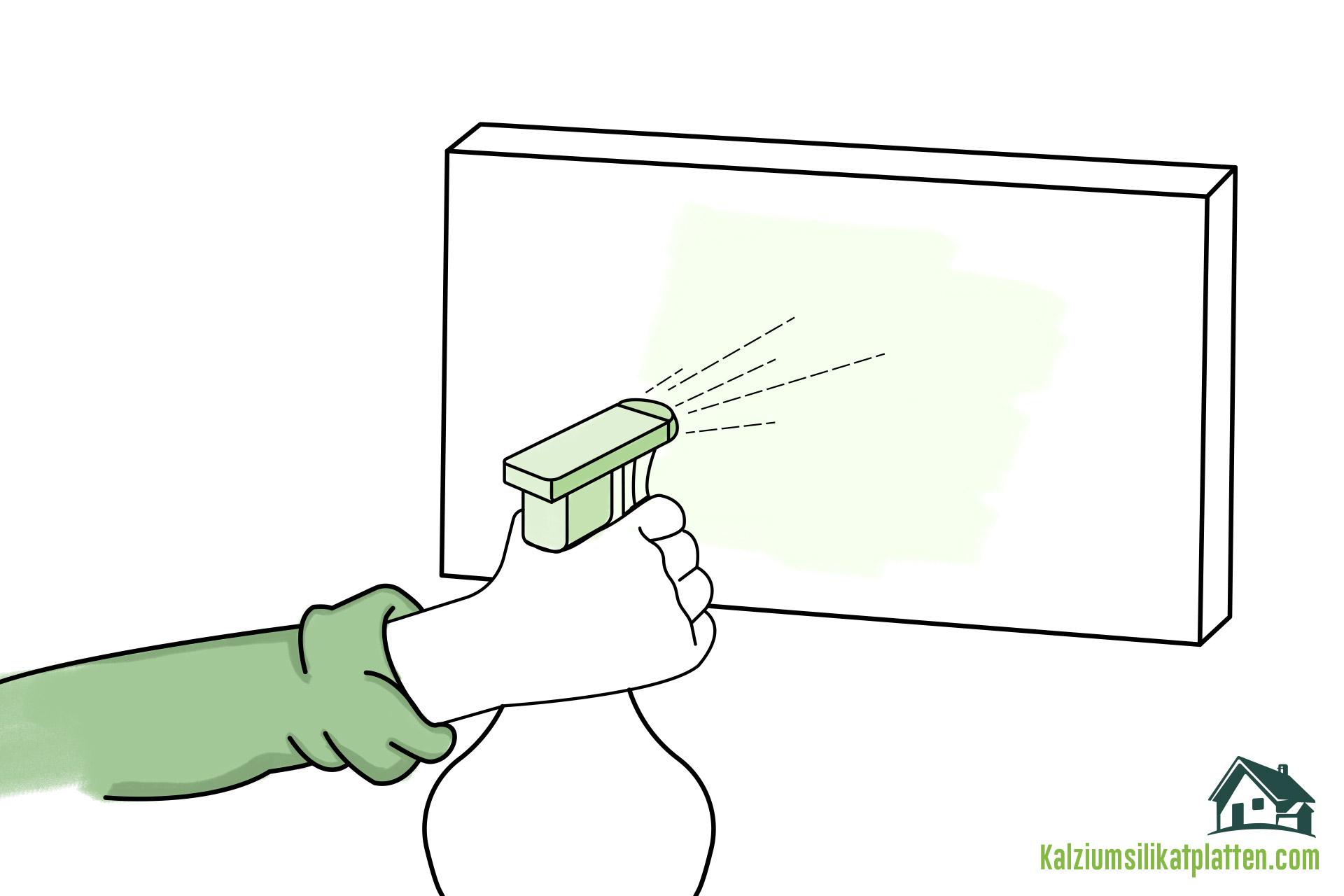 Anleitung zur Verarbeitung von Kalziumsilikatplatten: Kalziumsilikatplatten mit Silikatgrundierung grundieren