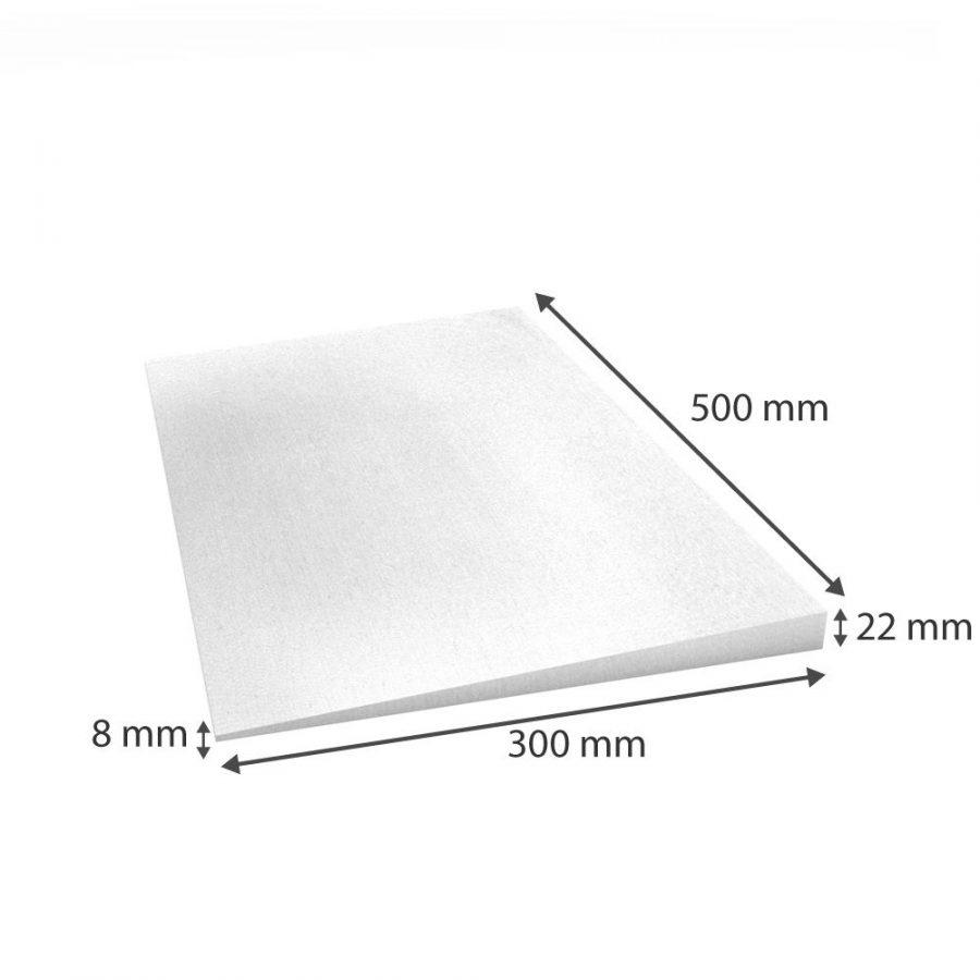 Keilplatten (Decken- bzw. Wandabschluss) 500x300x22/8mm